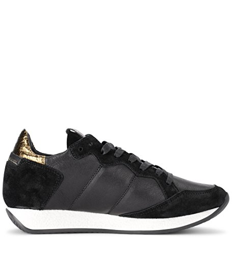 Monaco 41 Black 9½ Leather Golden PHILIPPE Woman's Black Sneaker and EU MODEL US 8ZERqH