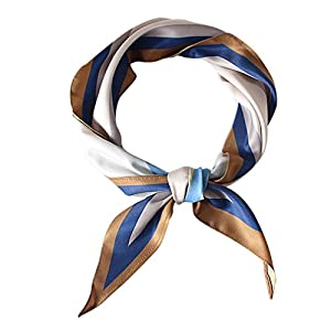 GERINLY Skinny Scarf Simple Floral Print Necktie for Shirts Ponytail Scarf