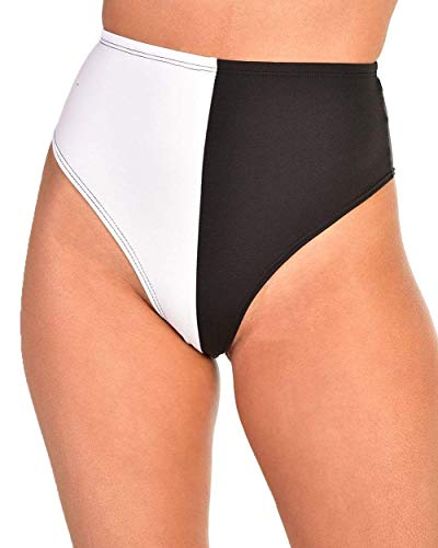 Heart Short Panty - iHeartRaves Night & Day Cheeky Hi-Cut High Waist Bottoms (Black, Large)
