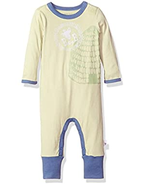 Baby Boys' Organic Long Sleeve Convertible Foot Coverall