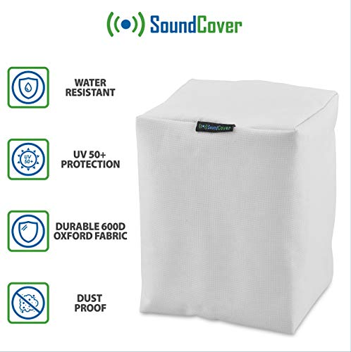 2 White Sonos Speaker Covers for Water Dust and Sun Protection Covers for Sonos Play:1 and Sonos One - Will fit on Mounted - Mount Dust