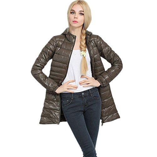 Packable Down Women's Powder Down Jackets Outwear Coat ArmyGreen Pillow Lightweight LJYH OqX7wUnCxx