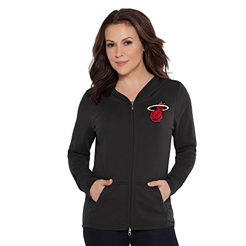 (Touch by Alyssa Milano NBA Miami Heat Tackle Hoodie, Large, Black)