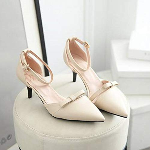 Polyurethane Women's Heels Stiletto Pink Pink Shoes Heel Pump ZHZNVX White Basic PU Beige Summer ZqwBdt0