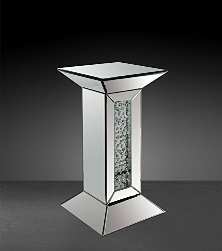 Acme Furniture 97306 St Nysa Mirrored Pedestal Stand ()