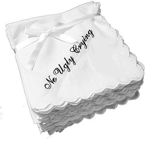 no-ugly-crying-personalized-wedding-handkerchiefs-napkins-with-a-name-and-date-set-of-11-by-wedding-