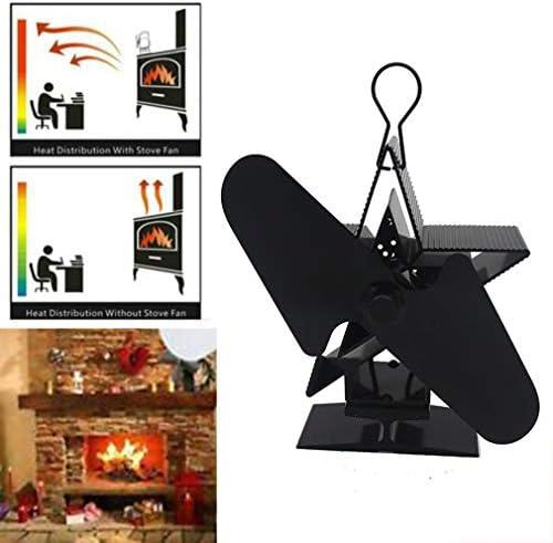 ストーブファン、Woodストーブ用暖炉熱ファンブレード、Woodストーブファン、2ブレード