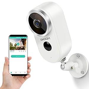 Flashandfocus.com 41T6aL%2Bz9kL._SS300_ Wireless Security Camera Outdoor Battery Powered Camera 1080P HD WiFi Camera, DIHOOM Rechargeble Battery Security IP…