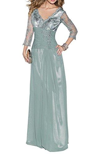 La_mia Braut Weinrot Chiffon Langarm Abendkleider Brautmutterkleider Festlichkleider Partykleider Neu Hell Gruen ael5BtLYsn