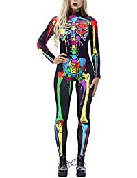 Women 3D Style Halloween Cosplay Costumes Jumpsuit Bodysuit