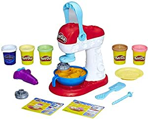 Play-Doh - Kitchen Creations - Spinning Treats Mixer inc 4 Tubs of Dough & acc - Creative Kids Toys - Ages 3+