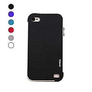 TOPAA Polychrome TPU and PC Soft Case for iPhone 4/4s (Assorted Colors) , White