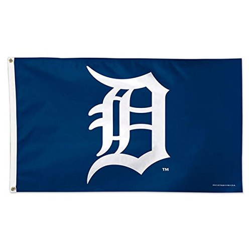 Detroit Tigers Flag - WinCraft MLB Detroit Tigers 01775115 Deluxe Flag, 3' x 5'