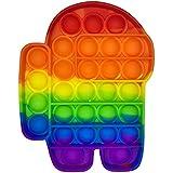 Brinquedo Pop It Fidget Colorido Anti-Stress Sensorial Importado Entrega Imediata (Among Us)