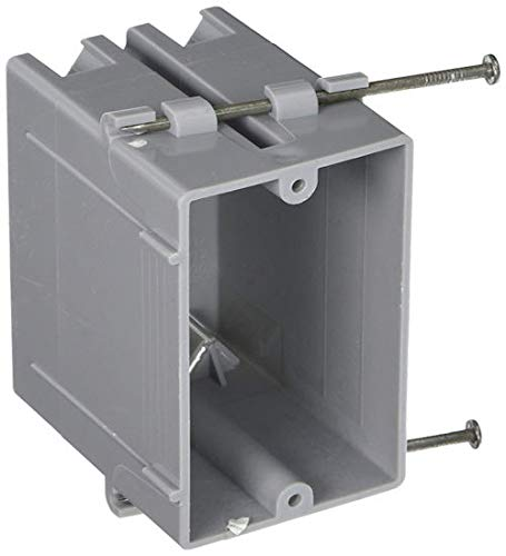 Hubbell-Raco 7820RAC 3-1/4-Inch Deep Non-Metallic Cable Electrical Box with 4 x NMSC Clamps, Gang and 2 x Captive Nails, 2-1/4-Inch x 3-19/32-Inch