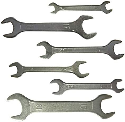 Yuauy 5 pcs 3mm Thin Double Ended 8 mm thru 17mm Cone Wrench Bicycle Tool Kit Spanner Bike Cycling Multi Set