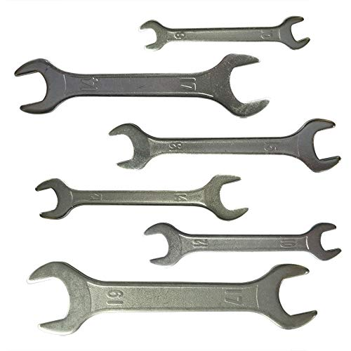 Xmomx (6 PCs) Double Ended 8mm thru 19mm Cone Wrench Spanner Bicycle Tool Kit Bike Cycling Multi Set
