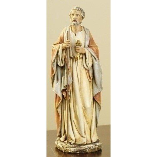 (Joseph's Studio Resin Saint St Peter with Keys of Heaven Figure Statue, 10 Inch)