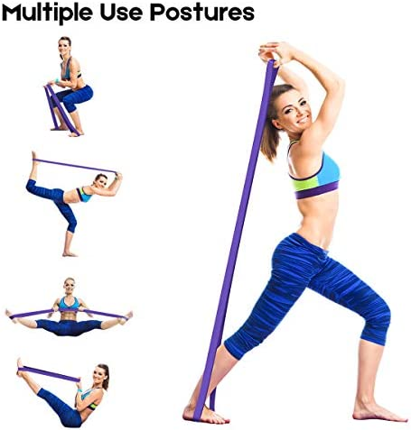 LEEKEY Resistance Band Set, Pull Up Assist Bands - Stretch Resistance Band - Mobility Band Powerlifting Bands For Resistance Training, Physical Therapy, Home Workouts (Set-4) 7