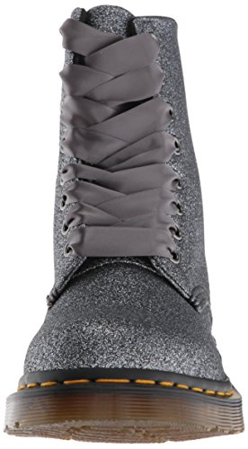 Pu Mujer Martens Dr Botines Glitter Pascal Pewter para Glitter 1460 UwpqTzxqO