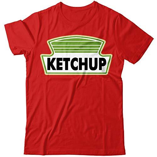Ketchup Tomato Sauce Bottle Halloween Costume Customized Handmade T-Shirt Hoodie/Long Sleeve/Tank -
