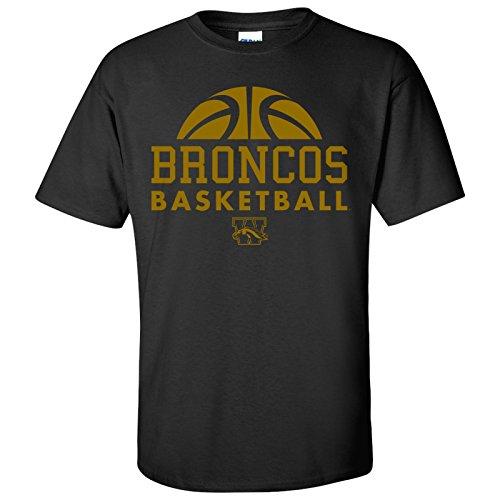 Western Michigan Broncos Basketball Hype Mens T-Shirt - Small - Black
