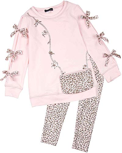 Kate Mack Girls' Animal Magic Tunic and Leggings Set in Pink, Sizes 4-12 - ()