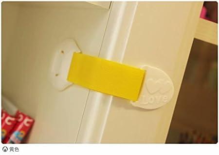 Doyeemei 5PCS Cerradura Seguridad Protector Pestillo de Cajón Puerta Nevera Armario Alargado para Bebé Niños