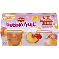Del Monte Bubble Fruit, Peach Strawberry Lemonade, 4-Ounce Cups, 6-Pack of 4-Count Boxes (24 Cups Total)