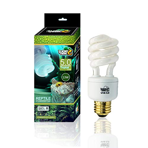 Reptile UVA UVB Light 5.0 Compact Fluorescent Tropical Terrarium Lamp 13 26 Wattage -