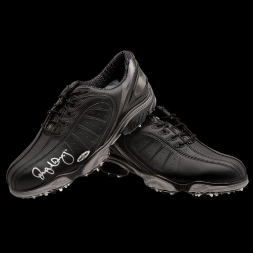 Rory McIlroy Autographed FootJoy Black Golf Shoes