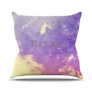 "KESS inhouse rb2003aop0318x 45,7""Rachel burbee Relax"" Cojín Manta de exterior, multicolor"