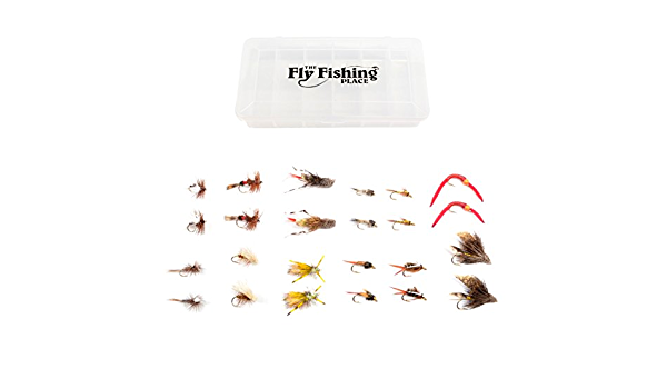 Mixed Dry Trout Flies for Fly Fishing Size 8 10 12 14 16 18 Waterproof Fly Box