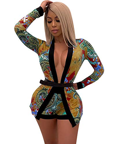 - Women's Two Piece Outfits Set - Long Sleeve Cardigan Cover Up + Vest Top + Skinny Shorts Without Belt Small Orange
