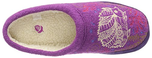 Forest Mule Slipper Women's Acorn Purple Hedgehog qPawx5