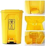 RYYAIYL Garbage Tribe Medical Trash Can, Yellow