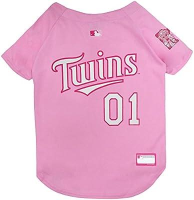 6b578e962 Amazon.com   MLB Jersey for Dogs - Minnesota Twins Pink Jersey