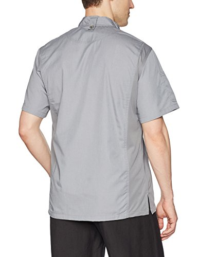 Chef Works Men's Springfield Chef Coat, Gray, Large by Chef Works (Image #2)
