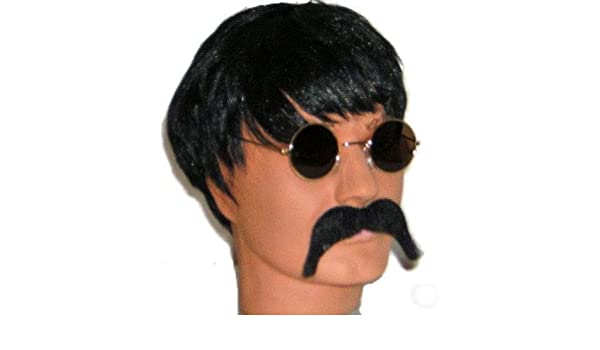 John Lennon Fancy Dress Wig, Glasses, Moustache Kit (peluca): Amazon.es: Juguetes y juegos