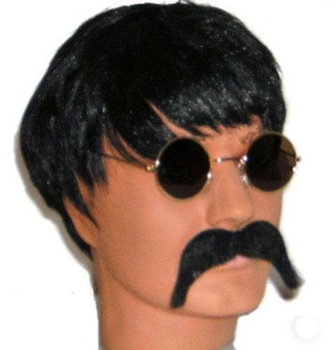 John Lennon Beatles Fancy Dress Wig, Glasses & Moustache - Lennon Costume Dress Fancy John