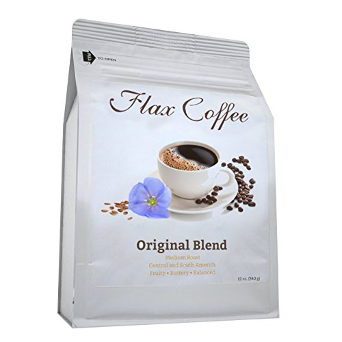Flax Coffee -Original Blend- Weight Loss, Lower Acid Burn, More ENERGY, Improve Digestion, No Bitter taste, No Crash, No Jitters, Non-GMO -Made with 100% Arabica Coffee Beans and Pure Roasted Flaxseed