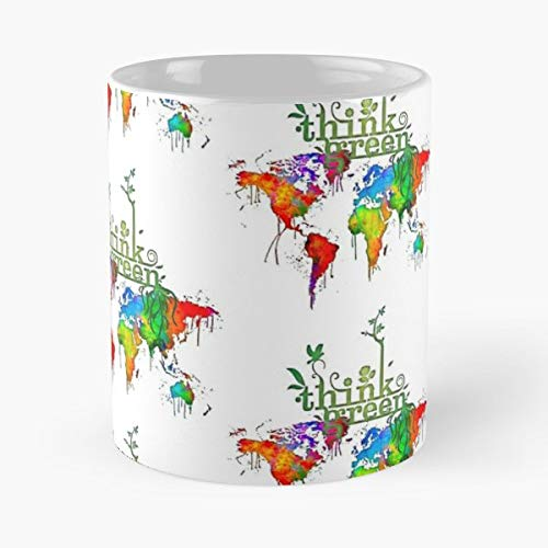 Earthday Vegan Vegetarian Planet - Coffee Mug Tea Cup Gift 11oz Mugs The Best Gift Holidays.