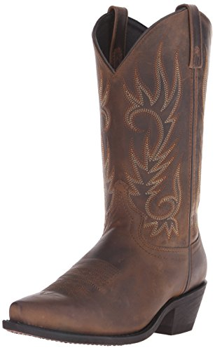 Laredo Men's Willow Creek Boot,Tan Crazyhorse,10.5 D (M) US (Beige Mens Cowboy Boot)