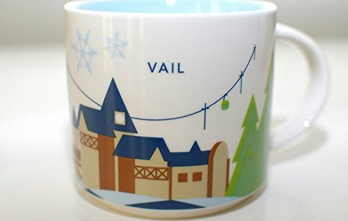 Starbucks Coffee 2013 You Are Here Accumulation Vail Mug, 14 Oz.