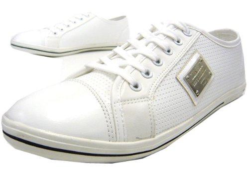 Schuhe Schnürer Weiß City Sneaker Schuh Herren Freizeit Moderner UqwWvnx1HS