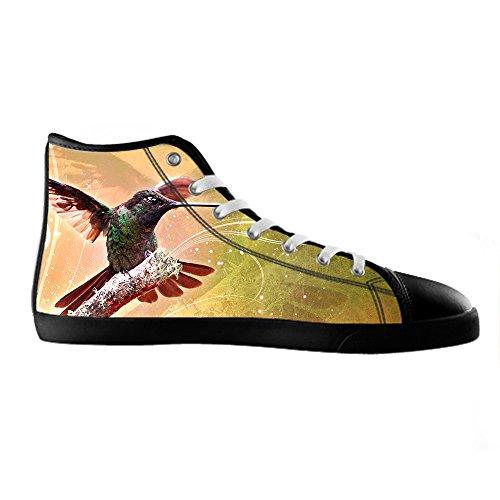 Custom Hummingbird Mens Canvas shoes Schuhe Lace-up High-top Sneakers Segeltuchschuhe Leinwand-Schuh-Turnschuhe D