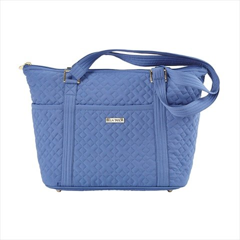 heritage-blue-microfiber-quilted-cotton-shopper-slip-zip-pockets-nonadjustable-straps-tote-handbag-1