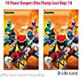 16 POWER RANGERS Dino Charge Treat Loot GIFT Favor Bags Birthday Party Supplies