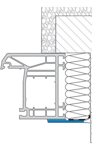 Tira adhesiva para ventana List/ón plano con labio de goma Barra para ventana Profil Bayram/® 10m de largo /& 30mm de ancho Tira protectora para puertas