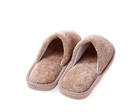 modakeusu orgánico Terry paño de algodón Spa Zapatillas de suave se adapta a la mayoría, rojo rosado, 26cm/10.14inch caqui